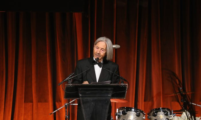 Elio D'Anna, founder of the European School of Economics, speaks during the Vision And Reality Awards in New York City. (Neilson Barnard/Getty Images for European School of Economics Foundation)
