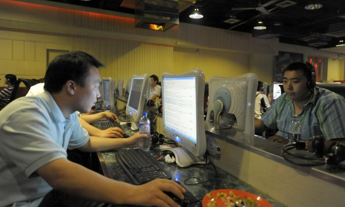 Internet users in Beijing on June 3, 2009. The control of the internet in China is among the strictest in the world, according to a 2014 human rights report by Freedom House. (Liu Jin/AFP/Getty Images)