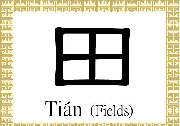 The Chinese radical/character 田 (tián) stands for arable land, cultivated ground, or agricultural fields. (Epoch Times)