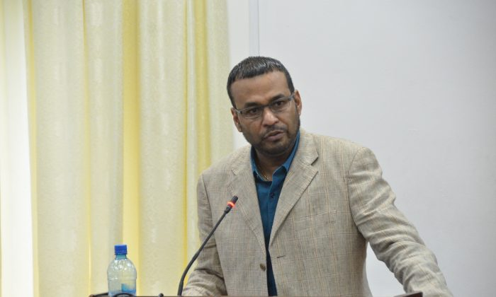 Robert Persaud; Guyana's Minister of Natural Resources and the Environment.