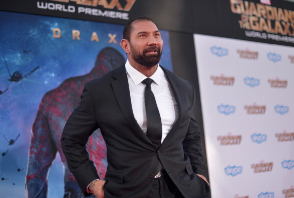 "Dave Bautista attends the after party for The World Premiere of Marvel's epic space adventure ""Guardians of the Galaxy,"" directed by James Gunn and presented in Dolby 3D and Dolby Atmos at the Dolby Theatre. July 21, 2014 Hollywood, CA  (Photo by Charley Gallay/Getty Images for Disney)"