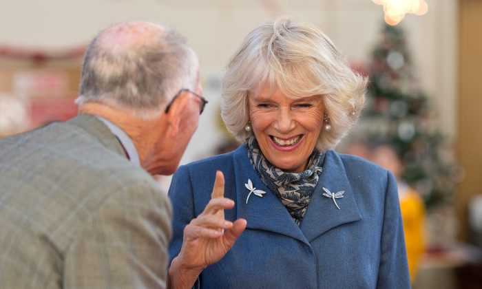 "Camilla, Duchess of Cornwall meets people who have been helped by the Jubilee Centre's ""Meals on Wheels"" luncheon club on December 10, 2014 in St Albans, England.  (Photo by Ben A. Pruchnie - WPA Pool /Getty Images)"