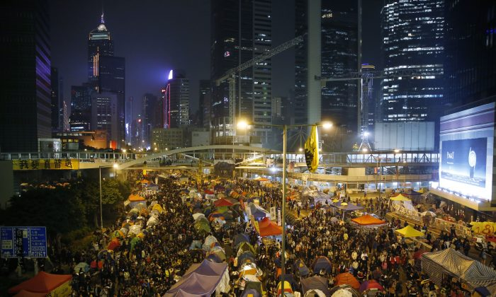 People. People everywhere. (AP Photo/Kin Cheung)