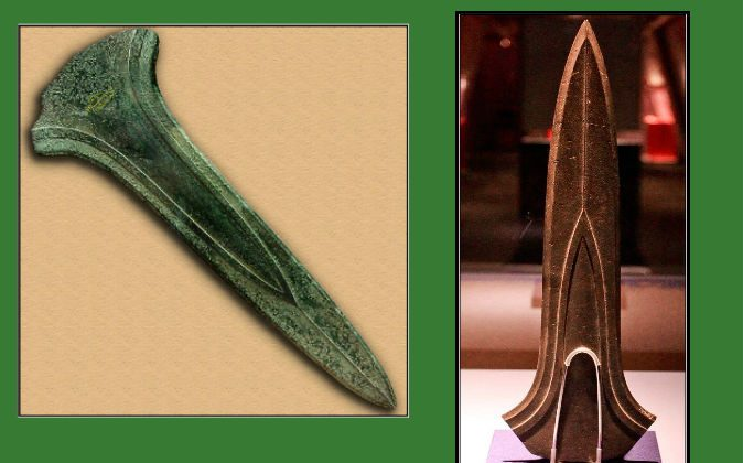Left: Dirk found in France (Wikimedia Commons). Right: Dirk found in the Netherlands (Wikimedia Commons)