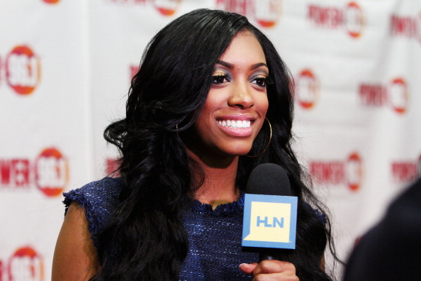 Porsha Williams, one of the stars of Real Housewives of Atlanta, was arrested for speeding, according to a report. Porsha Williams attends Power 96.1's Jingle Ball 2012 at the Philips Arena on December 12, 2012 in Atlanta. (Photo by Butch Dill/Getty Images for Jingle Ball 2012)