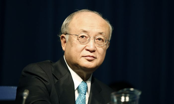 Yukiya Amano, Director General of the International Atomic Energy Agency (IAEA), attends the opening session of the 58th IAEA General Conference on Sept. 22, 2014, in Vienna. (Dieter Nagl/AFP/Getty Images)