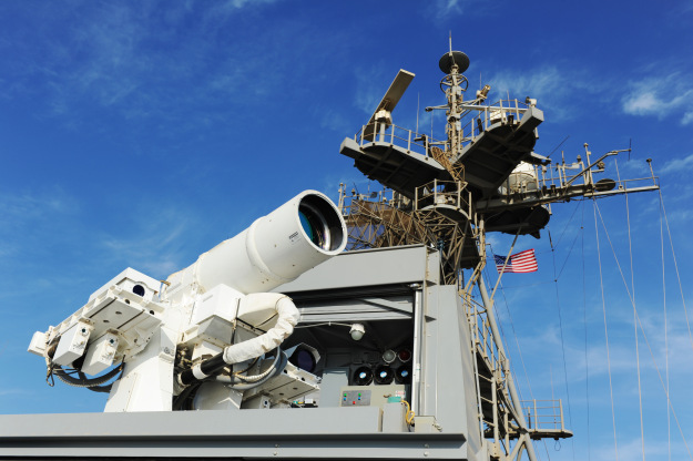 The laser weapon (US Navy photo)
