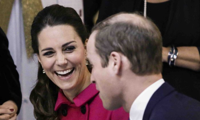 Britain's Prince William, Duke of Cambridge, and his wife Catherine, Duchess of Cambridge, visit The Door on December 9, 2014 in New York. The Door provides services to disadvantaged young people. (AP Photo/Kena Betancur, Pool)