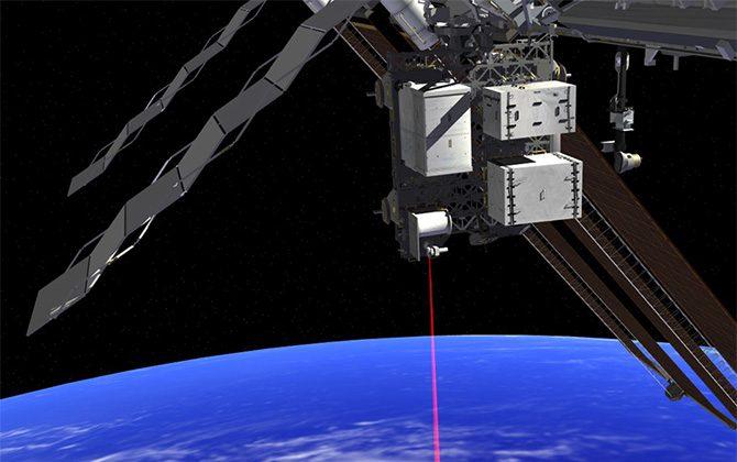 An OPALS artists rendition operating from the ISS (NASA/JPL-CALTECH)