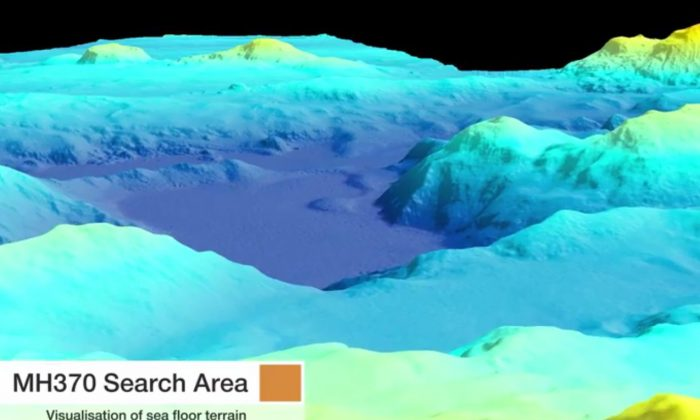 A video from the Australian Transport Safety Bureau shows the Malaysia Airlines Flight MH370 search area seafloor in the Indian Ocean (ATSB/YouTube)