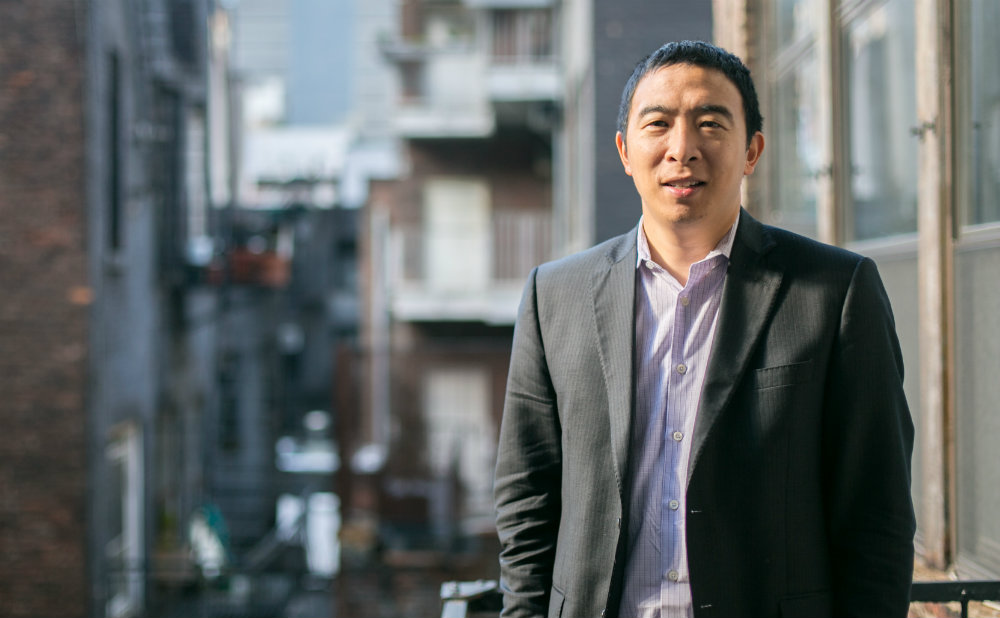 Andrew Yang, CEO of Venture for America, outside his office in Manhattan on Nov. 24. Venture for America is a fellowship program for recent college graduates to learn how to excel in startup companies and then progress as successful entrepreneurs. (Benjamin Chasteen/Epoch Times)