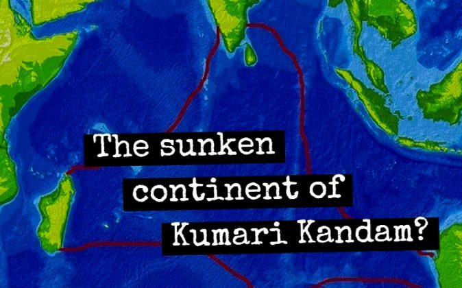 The proposed location of the legendary sunken continent of Kumari Kandam in the Indian Ocean. (Wikimedia Commons; edited by Epoch Times)