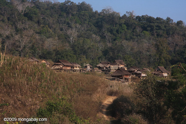 Village near Nam Et-Phou Louey National Protected Area in Lao PDR. Photo by Rhett A. Butler