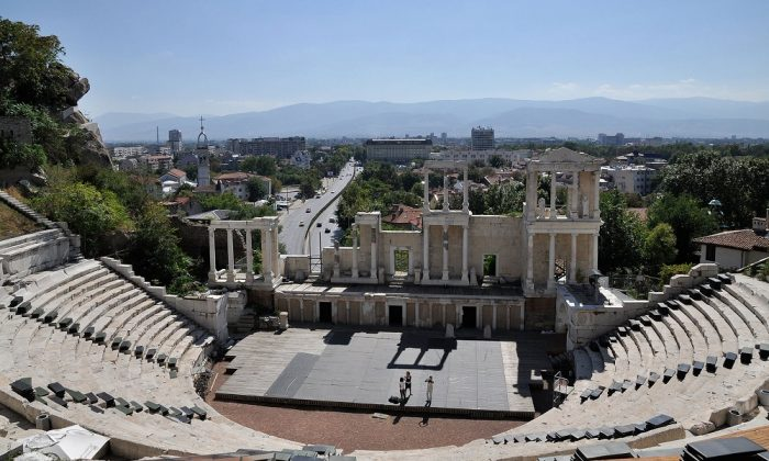 The ancient Roman theatre in Plovdiv, Bulgaria. (Wikimedia Commons, MrPanyGoff)