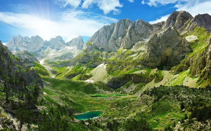 Mountain lakes in Albanian Alps via Shutterstock*