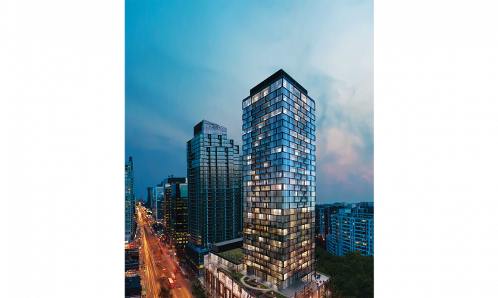 Beacon Condos will be a 35-storey tower with 274 residences, all with balconies. It will be a green building, with occupancy sensors in common areas to reduce electricity costs, energy-efficient lighting, water-wise fixtures and appliances, and low-VOC paints and finishes. (Sorbara Development Group)