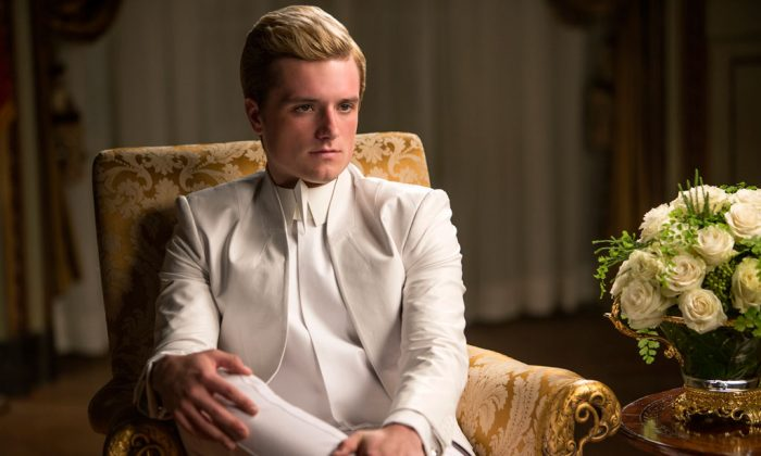 "Josh Hutcherson portrays Peeta Mellark in a scene from ""The Hunger Games: Mockingjay Part 1."" (AP Photo/Lionsgate, Murray Close)"