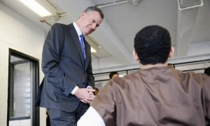 Mayor Visits Rikers Island, Says Reforms Have Improved Conditions for Young Inmates