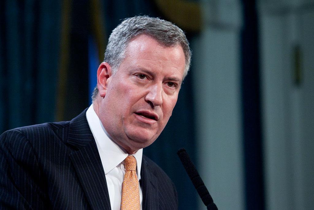 New York Mayor Bill de Blasio. (Samira Bouaou/Epoch Times)