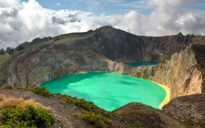 Kelimutu Volacano. Flores, Indonesia via Shutterstock*