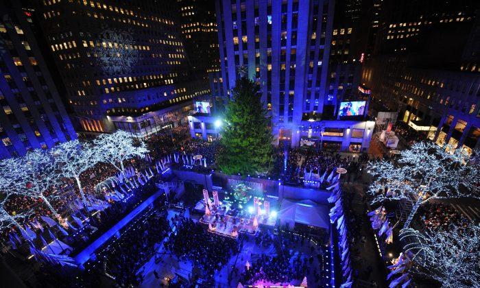 The 82nd annual Rockefeller Christmas Tree Lighting Ceremony at Rockefeller Center in New York on Dec. 3. (Brad Barket/Getty Images)