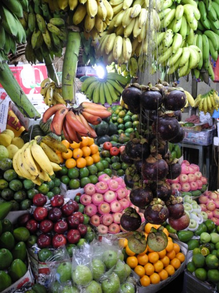 Delicious fresh fruit at market in Kandy (Lawrence Hamilton)