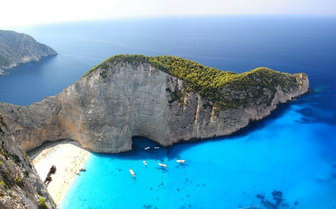 Navagio in Zakynthos, Greece via Shutterstock*