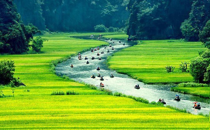 NinhBinh, vietnam landscapes via Shutterstock*
