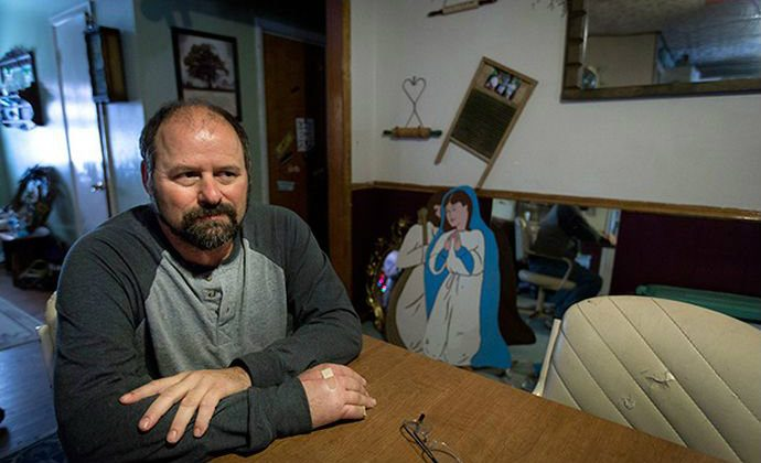 Northwest Financial Services first sued Keith and Katie Herie when they couldn't afford the $14,000 bill for Katie's emergency appendectomy. Since 2006, the Heries have had almost $20,000 taken from their wages to repay medical bills, and still owe at least $26,000, with interest mounting. (Steve Herbert for ProPublica)