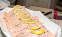 Healthy Poached Salmon for the New Year