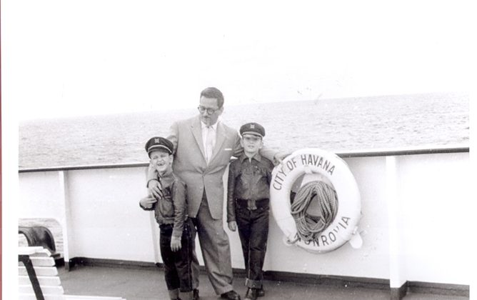 The author with his brother and father on the way to Florida in the 1960s. (Courtesy Gustavo Perez Firmat)