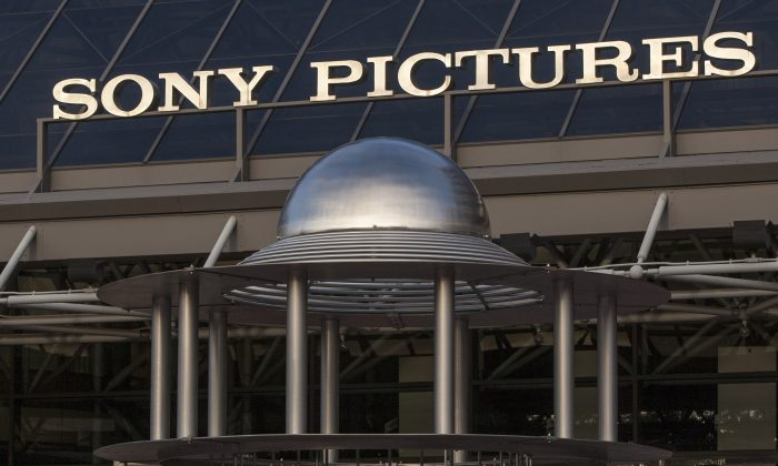 This Dec. 19, 2014 file photo shows an exterior view of the Sony Pictures Plaza building in Culver City, Calif. (Damian Dovarganes/AP Photo)