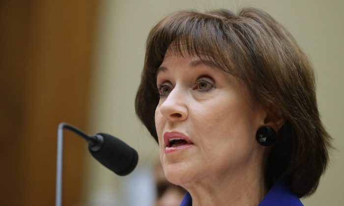 Former Director of the Exempt Organizations Division of the IRS Lois Lerner at a House Oversight Committee hearing about the agency's treatment of conservative groups, in Washington, D.C., on March 5. (Getty Images/Chip Somodevilla)