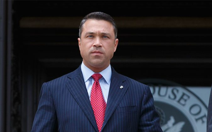 Rep. Michael Grimm (R-N.Y.) at the Capitol in Washington on May 30, 2014. Grimm pleaded guilty to federal tax evasion in federal court in Brooklyn, N.Y., on Dec. 23, 2014. (AP Photo/J. Scott Applewhite)