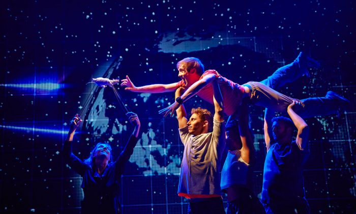 "A performance of ""The Curious Incident of the Dog in the Night-Time,"" in London. The play by Simon Stephens was adapted from Mark Haddon's best-selling novel and is directed by Tony Award-winner Marianne Elliott. (AP Photo/Boneau/Bryan-Brown, Brinkhoff-Moegenburg)"