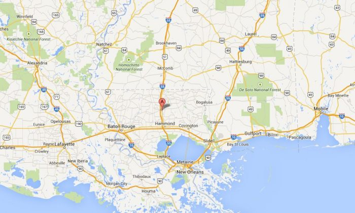 A tornado has reportedly hit Amite, Louisiana, on Tuesday afternoon, according to very preliminary reports. (Google Maps of Amite City, La.)