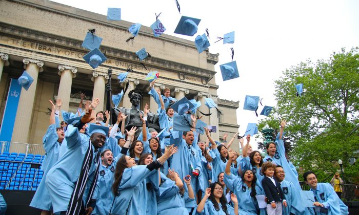 Graduation at Columbia University in New York on May 22, 2014. (Allen Xie/Epoch Times)