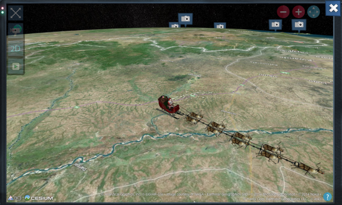 """A satirical article titled, """"Russia Shoots Down Santa's Sleigh Near North Pole,"""" has gone viral on Christmas Eve.   (Norad)"""