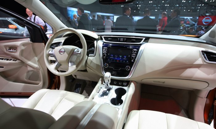 The interior of the newly-introduced 2015 Nissan Murano is seen at the 2014 Los Angeles Auto Show on Nov. 20, 2014 in Los Angeles, Calif. (David McNew/Getty Images)