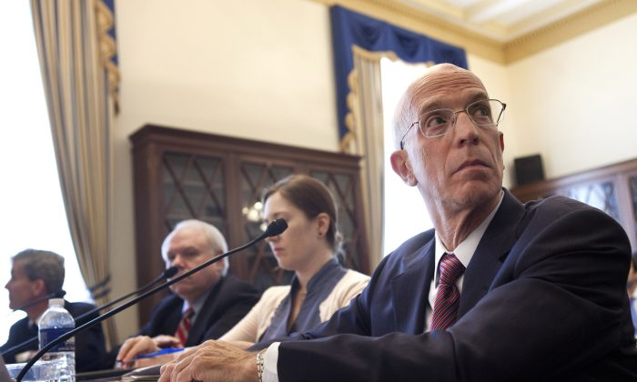 Dr. Alan Blinder listens during a hearing on Capitol Hill in Washington, D.C., on July 7, 2011. (Brendan Smialowski/Getty Images)