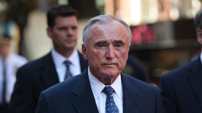 NYPD Commissioner Bill Bratton walks over to speak to the media near where two U.S. Marshals and one New York Police Department (NYPD) detective were shot on July 28, 2014, in the West Village of Manhattan, NYC. (Spencer Platt/Getty Images)