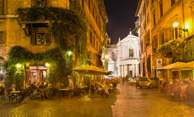 Old street in Rome, Italy via Shutterstock*