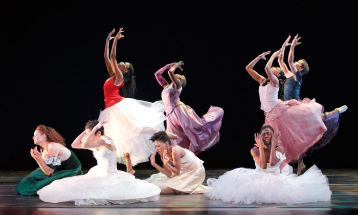 "Alvin Ailey American Dance Theater in Jacqulyn Buglisi's ""Suspended Women."" (Paul Kolnik)"