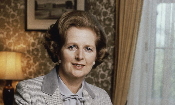 British Prime Minister Margaret Thatcher poses for a photograph in London, 1980. Newly released official papers show that former Prime Minister Margaret Thatcher's government considered rebuilding Britain's chemical weapons arsenal in the face of a Soviet threat in the early 1980s. (AP Photo/Gerald Penny)