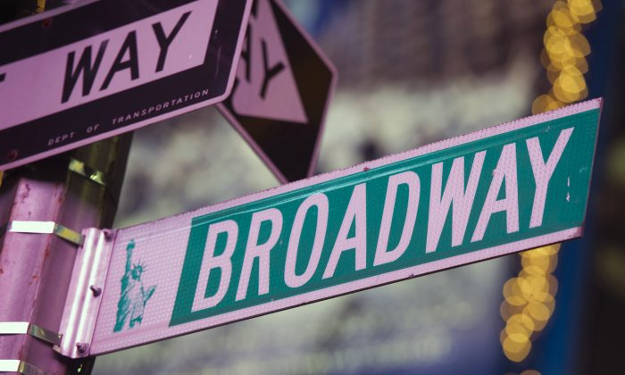 A Broadway street sign is seen in Times Square in New York  in a file photo. (AP Photo/Charles Sykes)