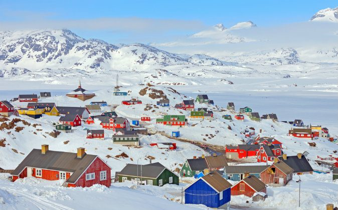 Colorful houses in Greenland in spring time via Shutterstock*