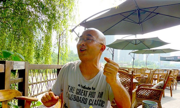Liao Yiwu in an interview in Chengdu, China, in July 2010. (Brian Awehali)