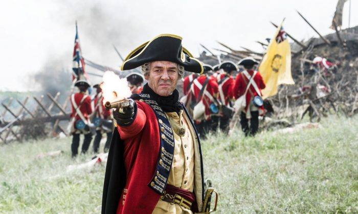 "Marton Csokas portrays British Gen. Gage in a scene from ""Sons of Liberty."" (AP Photo/History Channel, Ollie Upton)"