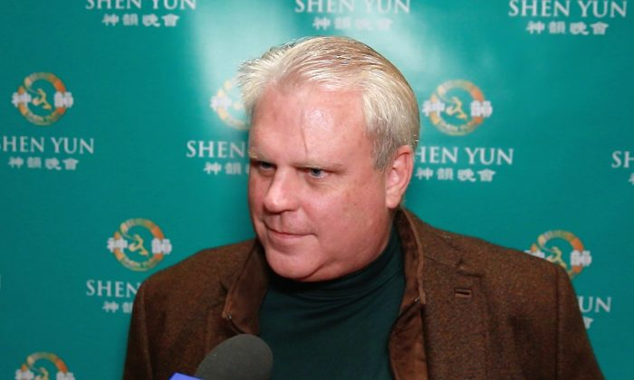 Jim Hickey attends Shen Yun Performing Arts at  Jones Hall on Dec. 28, 2014. (Courtesy of NTD Television)