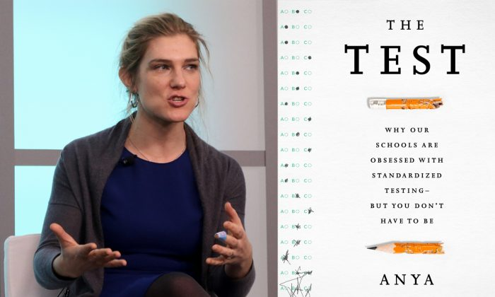 """Anya Kamenetz, author of """"The Test: Why Our Schools are Obsessed with Standardized Testing—But You Don't Have to Be,"""" and NPR's lead digital education reporter, spoke on Jan. 8, at the New America Foundation. (Gary Feuerberg/Epoch Times)"""
